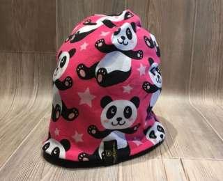 Einmal warm herum - Panda pink / Fleece schwarz