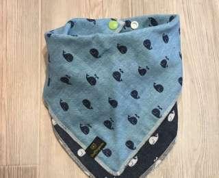 Häng mich rum - Baumwolle Wallfisch hellblau / dunkelblau