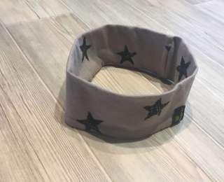 Stirnband Beige Sterne schwarz