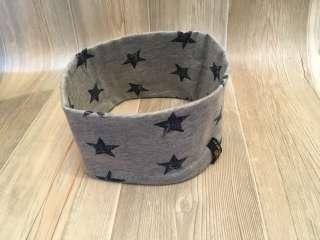 Stirnband grau meliert/Stern blau