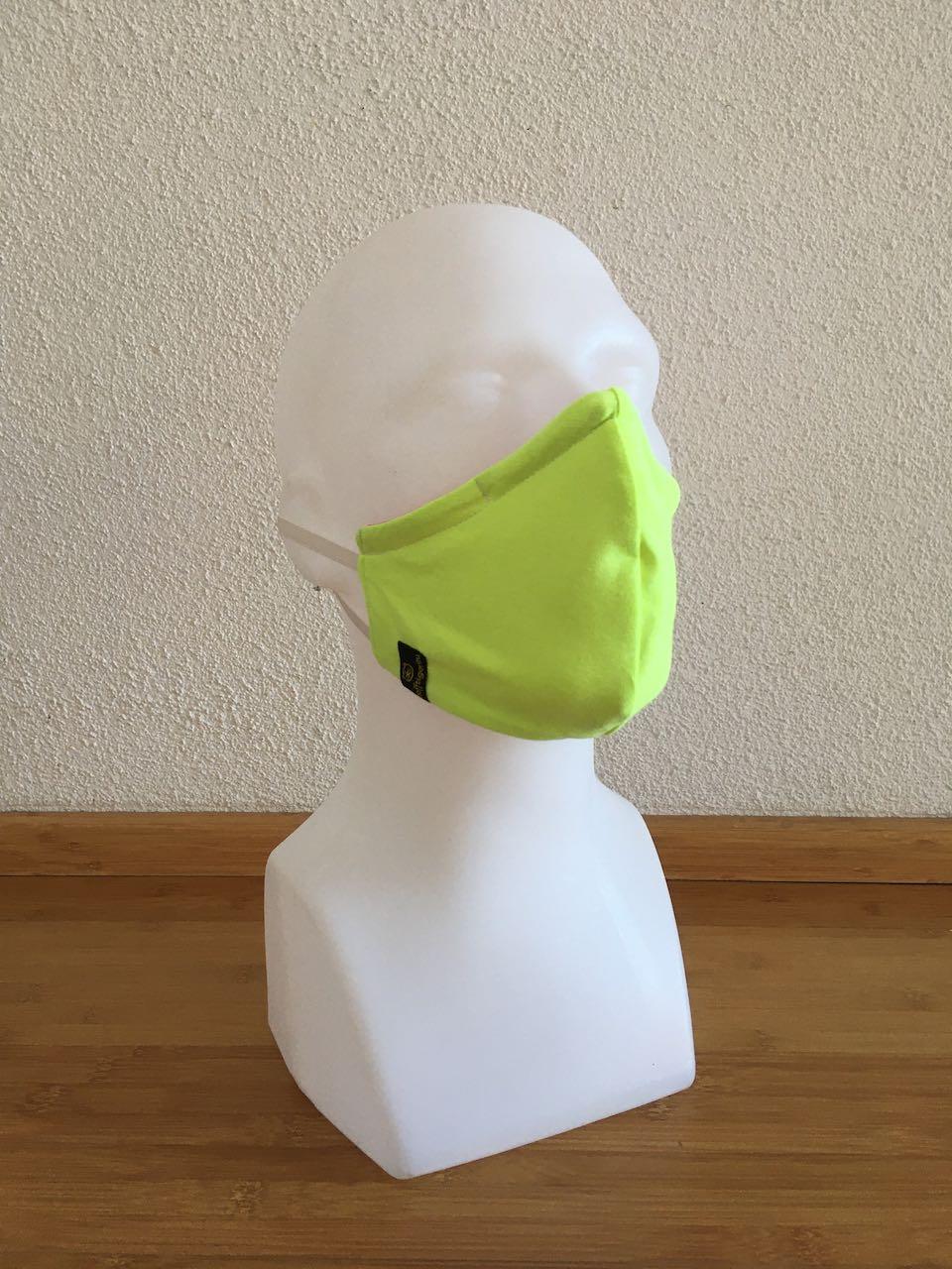 Mund- & Nasenmaske neon organges/neon gelb
