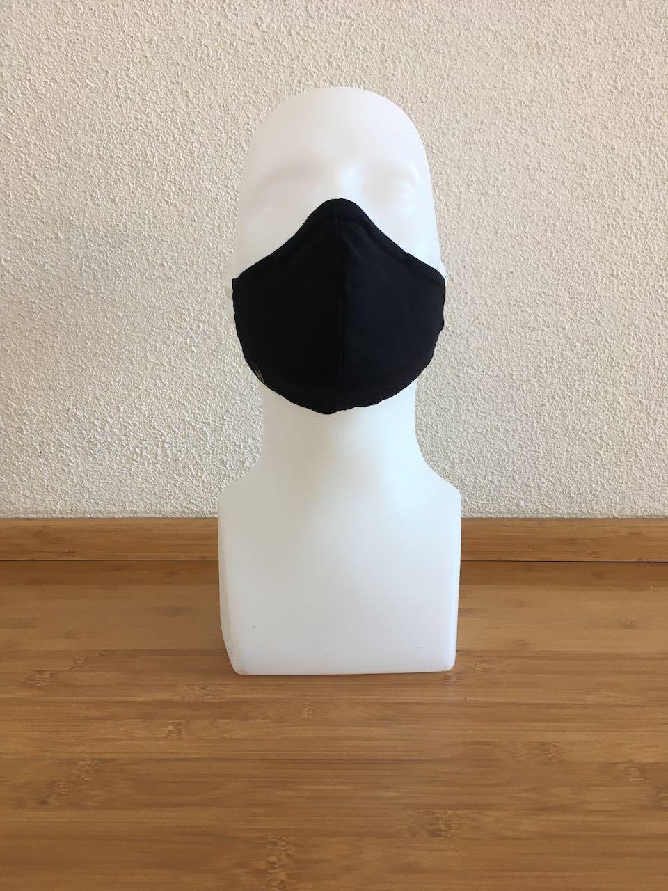 Mund- & Nasenmaske asia / schwarz